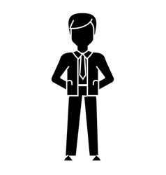 businessman hands back icon vector image