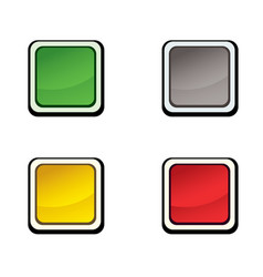 Button set icon design elements vector