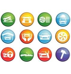 Car service icons set vector