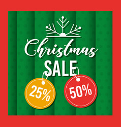 christmas sale card greeting offer tag price vector image