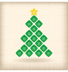 Christmas tree made of buttons vector image