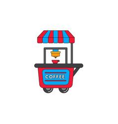 Coffee shop cart vector