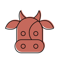 cow head isolated icon vector image