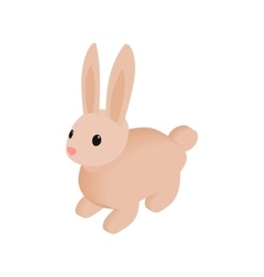 Easter bunny isometric 3d icon vector