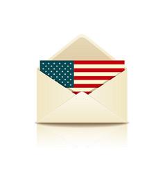 envelope letter flag of america vector image vector image