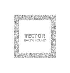 Festive silver sparkle background glitter border vector