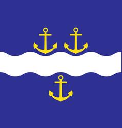 Flag of gavle is a capital city in gavleborg vector