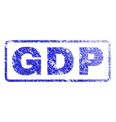 Gdp rubber stamp vector