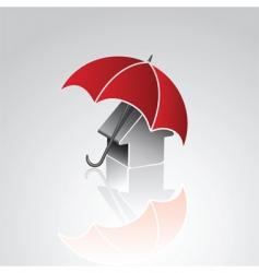 House under umbrella vector