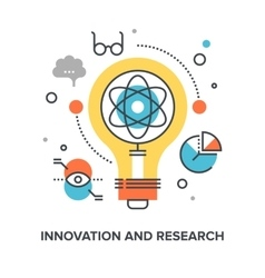 Innovation and research vector