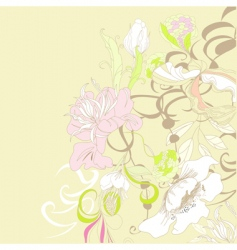 pastel flowers vector image vector image