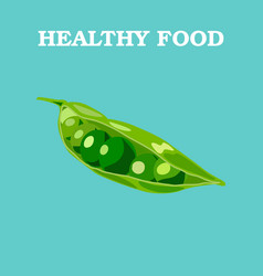 Peas flat peas logo peas icon isolated object vector