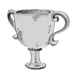 Prize trophy icon vector image
