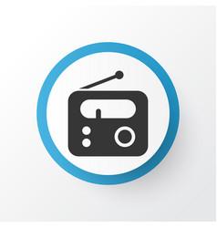 Radio icon symbol premium quality isolated tuner vector