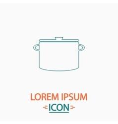 Saucepan computer symbol vector