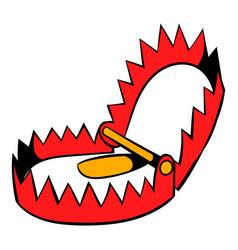 Sharp metal trap icon icon cartoon vector