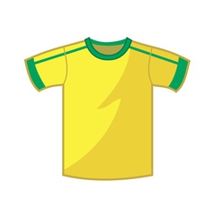 shirt jersey vector image vector image