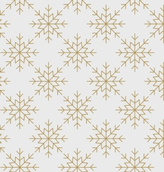 Snowflakes pattern seamless line art gold vector