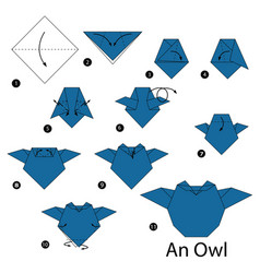 Step instructions how to make origami an owl vector