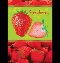 strawberry menu vector image