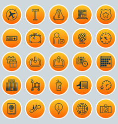 Transportation icons set collection of suitcase vector
