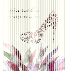 Vintage card with shoes vector