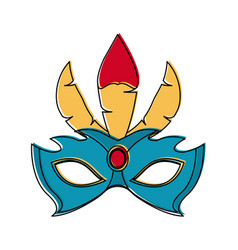 Women carnival mask vector