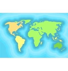 World map for kids wallpaper design vector