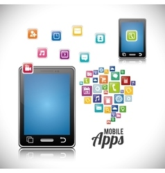 Smartphone mobile apps design vector