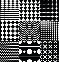 various seamless pattern set vector image