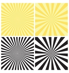 Set of Radial Sunburst Backgrounds vector image