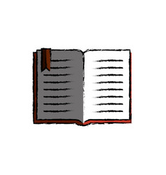 Text book library isolated icon vector