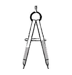 Compass supply school icon vector