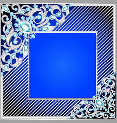 background frame with jewels vector image