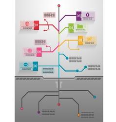 Business tree info graphics vector