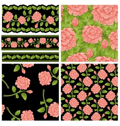 Flower patterns vector