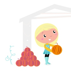 thanksgiving child vector image