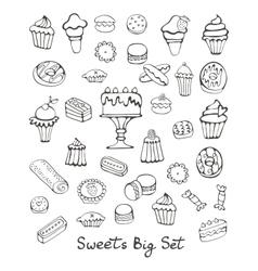 Sweets big set vector image