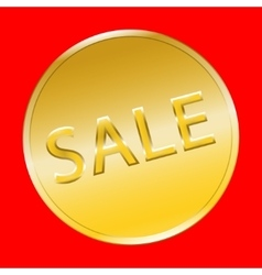 Sale gold button vector