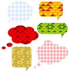 Speech bubbls set vector image
