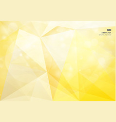 abstract geometric yellow background bokeh vector image