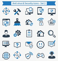 Anti virus and Security icons - Set 2 vector image