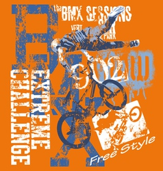 BMX Extreme challenge vector image vector image