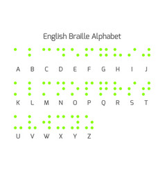 Braille alphabet letters braille is a tactile vector
