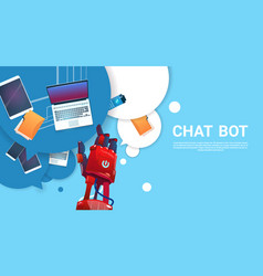 chat bot robot virtual assistance of website or vector image vector image