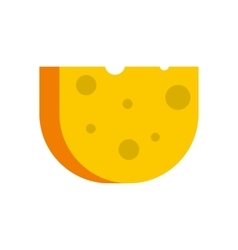 Cheese icon flat style vector image