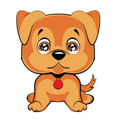 Cute cartoon dog children s funny vector