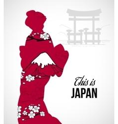 Geisha Silhouette vector image