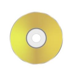 Gold compact disc icon vector