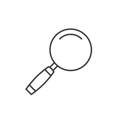 magnifying glass outline icon vector image